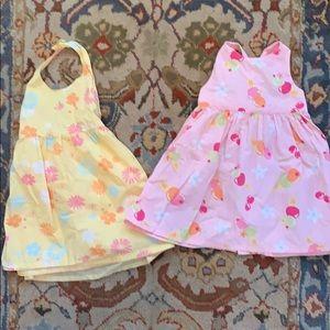 Two 3T pastel dresses Old Navy & Gymboree